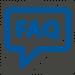 FAQ icon blue